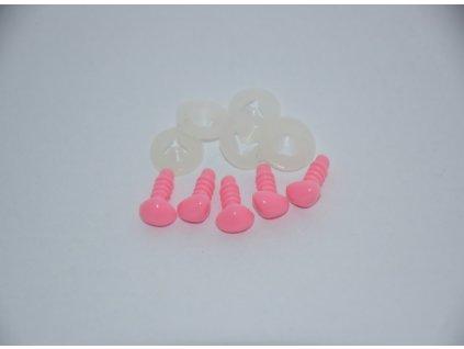 Bezpečnostní nos 9mm růžový