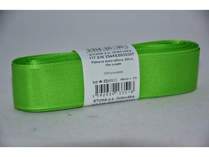 Stuha taftová 25mm 307 jarní zelená