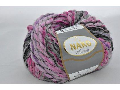 Příze Aurora 2755 růžovo-šedá
