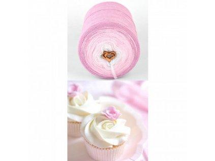 Muffin mini lux 7011 růžovo-bílá