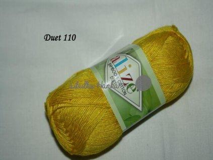 Příze Alize Duet 110 žlutá