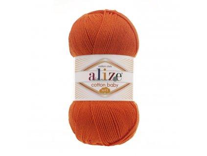 Cotton baby soft 37 oranžová š. 143640