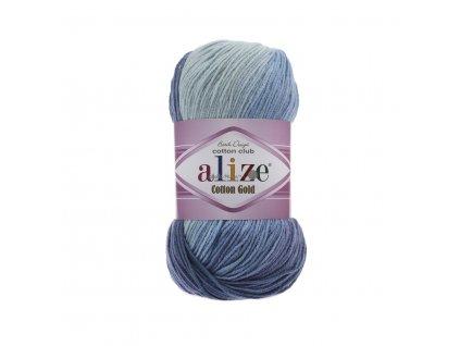 Alize Cotton gold batik 3299 modrý melír š.380490