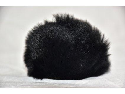 Bambule 8cm kožešina králík 901 černá