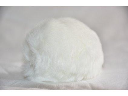 Bambule 8cm kožešina králík 900 bílá