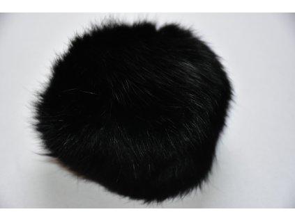 Bambule 10cm kožešina králík 901 černá