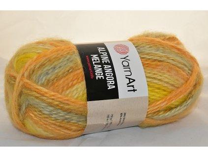 Alpine angora melange 433 žlutá