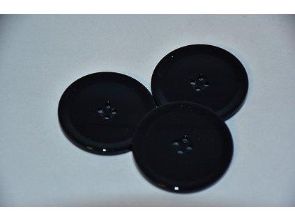 Knoflík plastový čtyřdírkový 35mm černý