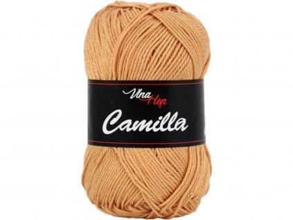 Příze Camilla 8209 hnědo-rezavá