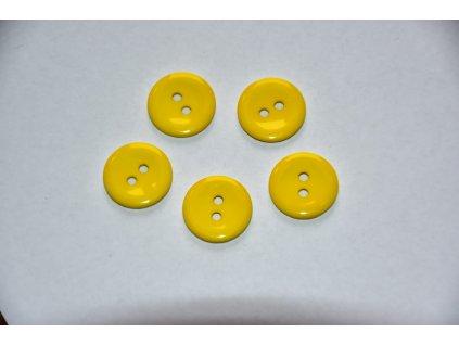 Knoflík 15mm tmavší žlutá