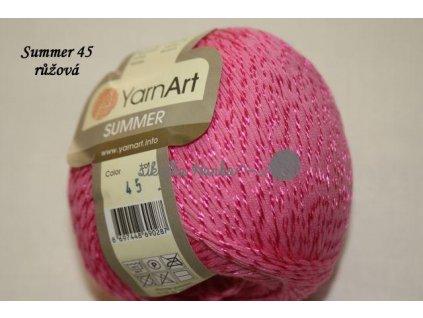 YARN ART Summer 45 růžová