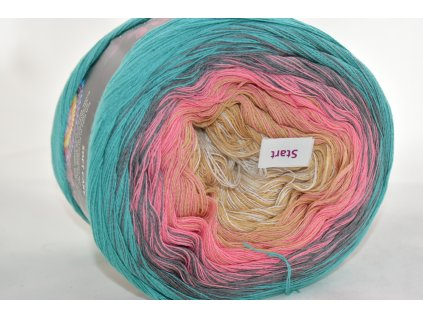 Soft cake yarn 6 duhová
