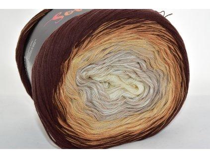 Soft cake yarn 21 hnědá