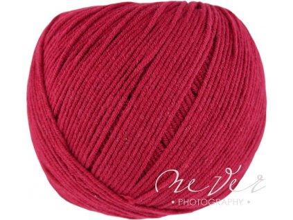 Jeans - Vlna Hep 8020 tmavě červená