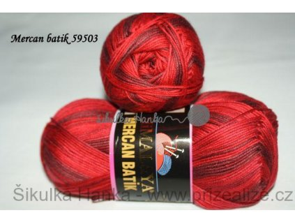 Mercan batik 59503 tm.červená