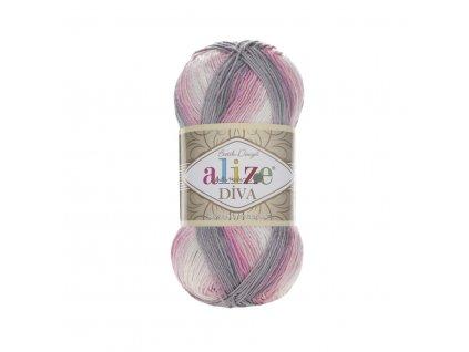 Příze Alize Diva batik 3245 růžovo-šedo-bílá