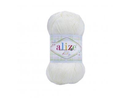 Alize Diva baby 55 bílá