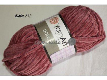 Příze Yarn art Dolce 751 starorůžová