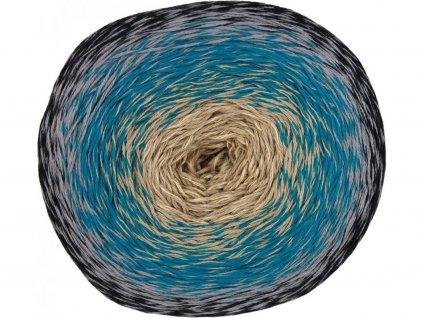 Příze Acorus 9703 černo-šedo-modro-světlá