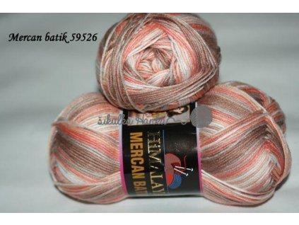 Mercan batik 59526 meruňkovo-hnědá