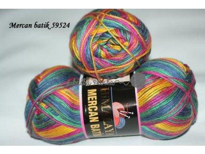 Mercan batik 59524 modro-barevná