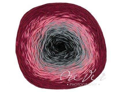 Floxy 9904 vínovo-růžovo-bílo-šedá (světlý střed než na foto)