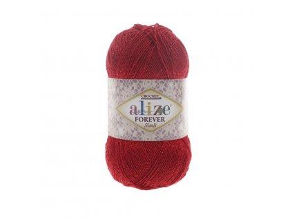 Alize Forever simli 106 červená