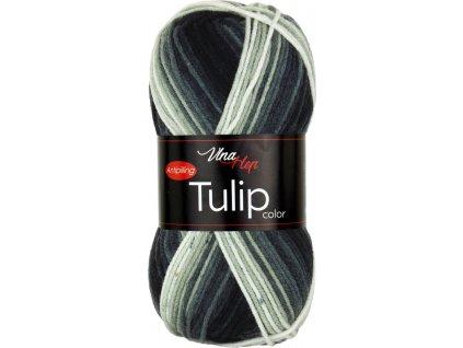Tulip color 5218 černo-šedý melír