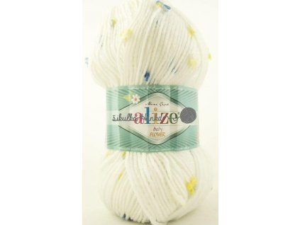 Příze Alize Flower baby 5430 bílá