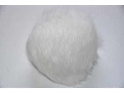 Bambule 10cm kožešina králík 900 bílá