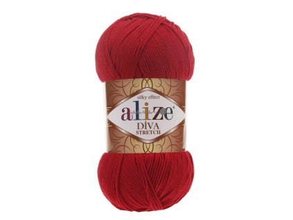 Alize Diva stretch 106 červená