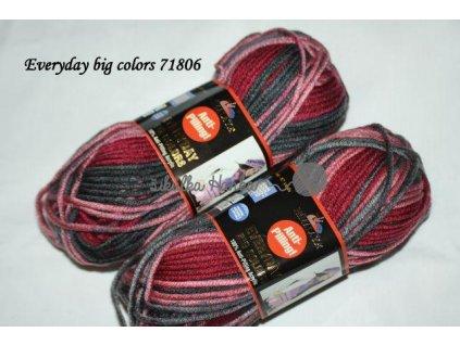 Příze Himalaya Everyday big colors 71806 vínovo-černá