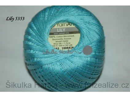 Příze Yarn Art Lily 5353 tyrkysová