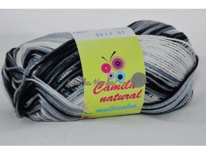 Camila natural multicolor 9017 černo-bílá