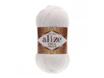 Alize Diva stretch 55 bílá