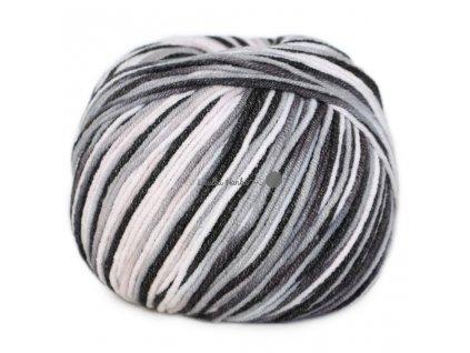 Jeans color 9017 černo-bílá