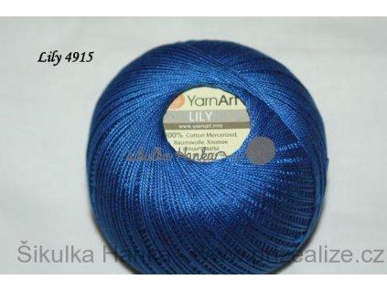 Příze Yarn Art Lily 4915 královská modrá