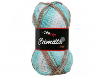 Příze Camilla batik 9611 modro-bílo-hnědá