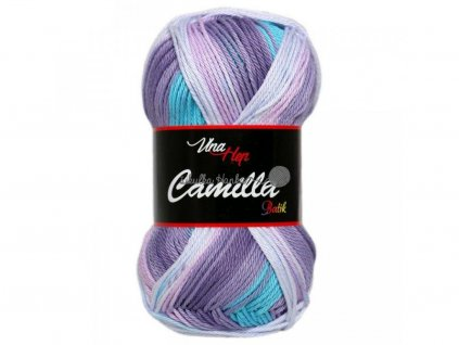 Příze Camilla batik 9613 fialovo-modro-bílá