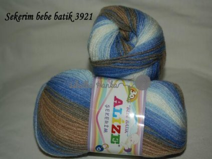Sekerim bebe batik 3921 modro-hnědá