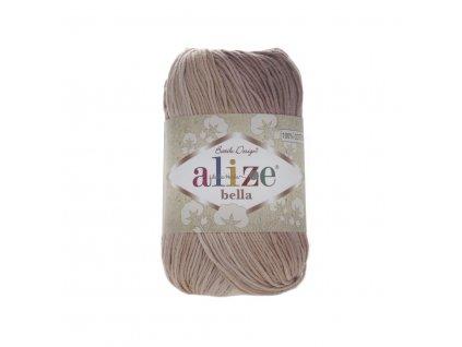 Příze Alize Bella batik 1815 hnědý melír
