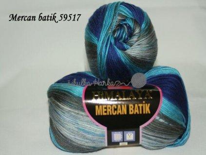 Mercan batik 59517 modro-šedá