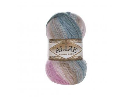 Angora gold batik 2970 růžovo-modrošedá