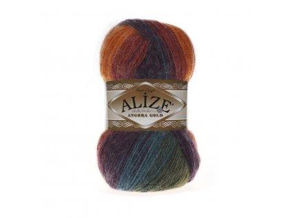 Angora gold batik 4827 podzimní barevná