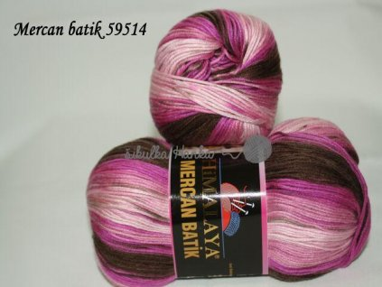 Mercan batik 59514 růžovo-tmavá