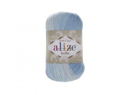 Příze Alize Bella batik 2130 modro-bílá