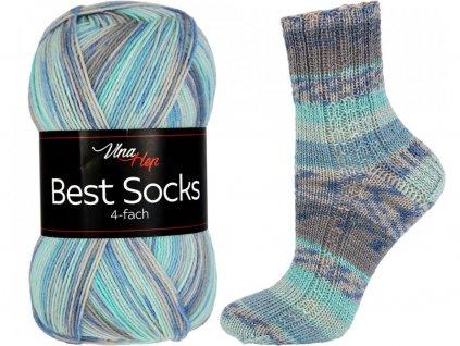 Příze Best socks 7302 světle modro-šedá