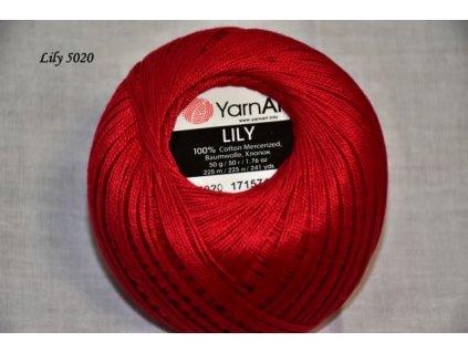 Příze Yarn Art Lily 5020 červená š.327835