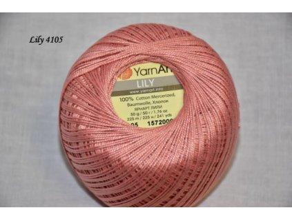 Příze Yarn Art Lily 4105 krevetová