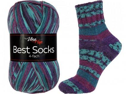 Příze Best socks 7311 modro-vínová